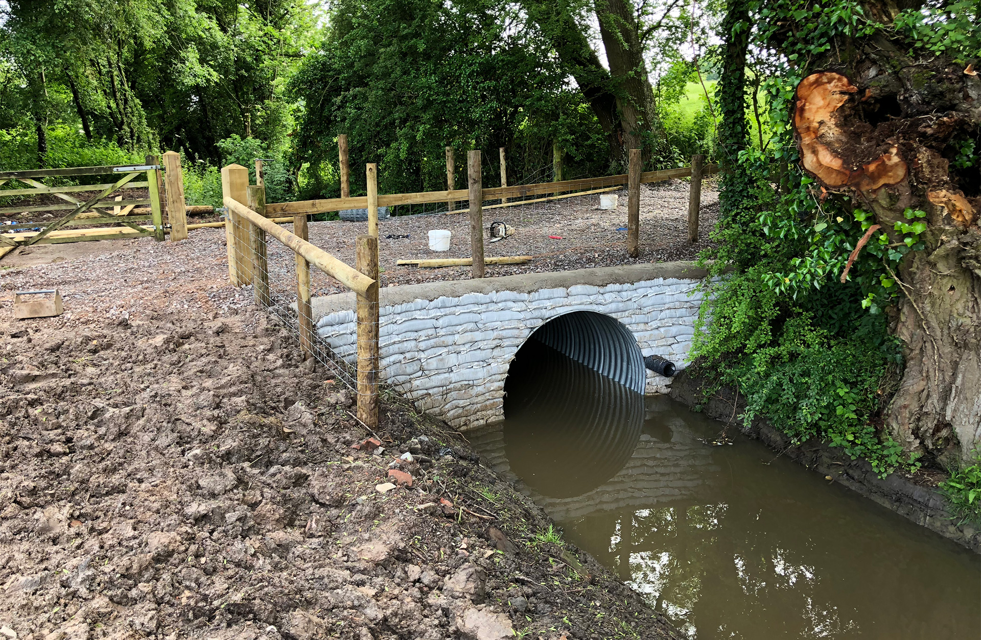 New culvert and fencing